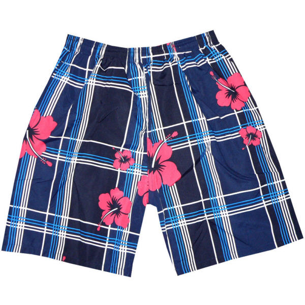 BADESHORT-BADEHOSE-HAWAII-BEACHWEAR-HERREN-TEEN-BOY-STREIFEN-BLUMEN-STYLISH
