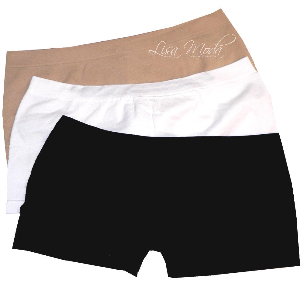 4-Stueck-MIKROFASER-SEAMLESS-HIPSTER-Panty-wahlweise-schwarz-beige-weiss